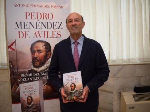 Antonio Fernández Toraño, autor del libro 'Pedro Menéndez de Avilés'
