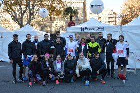 El equipo de Preventiva Seguros que ha participado en la Carrera de las Empresas