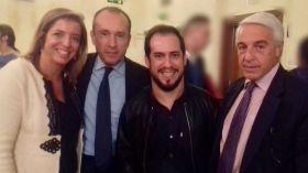 De izquierda a derecha, Nieves Ribot, Jose María Martín,  Juan Manuel Montilla, El Langui, y Eduardo Gonzalez